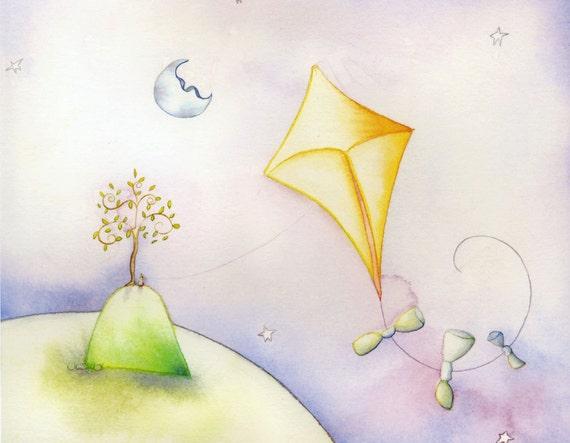 Moon Kite Note Card