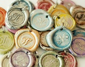 SALE /  Limited Time / Buy 4 get the 5th FREE / Monogrammed INITIAL Wax Seal Pendant