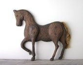 Brown Wood Horse Wall Hanging