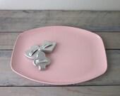 Pink Melmac Serving Tray