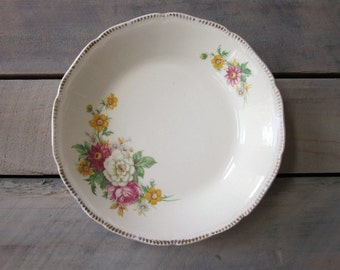 English Floral China Soup Serving Bowl