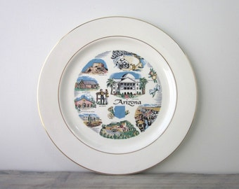 Arizona Souvenir China Travel Plate  by Knowles