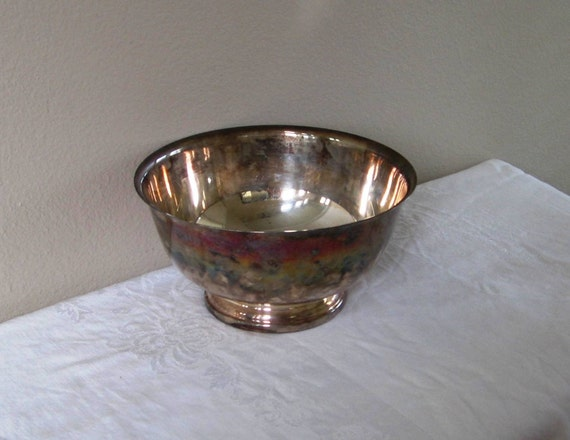 Large Gorham Silver Plate Footed Serving Bowl