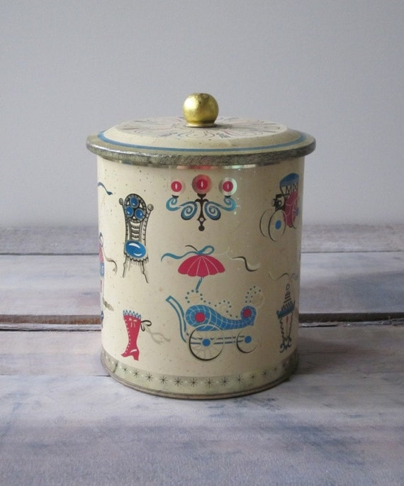 Kitchy Tin Canister