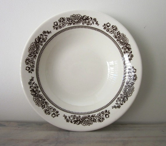 Brown and White Restaurant Ware Bowl