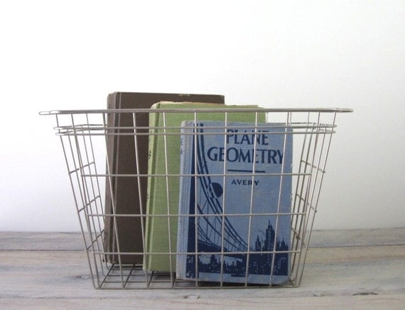 Metal Wire Book Basket