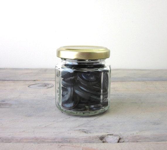 Old Jar of Dark Vintage Buttons