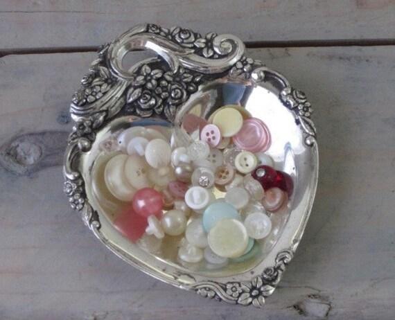 Silverplate Heart Dish