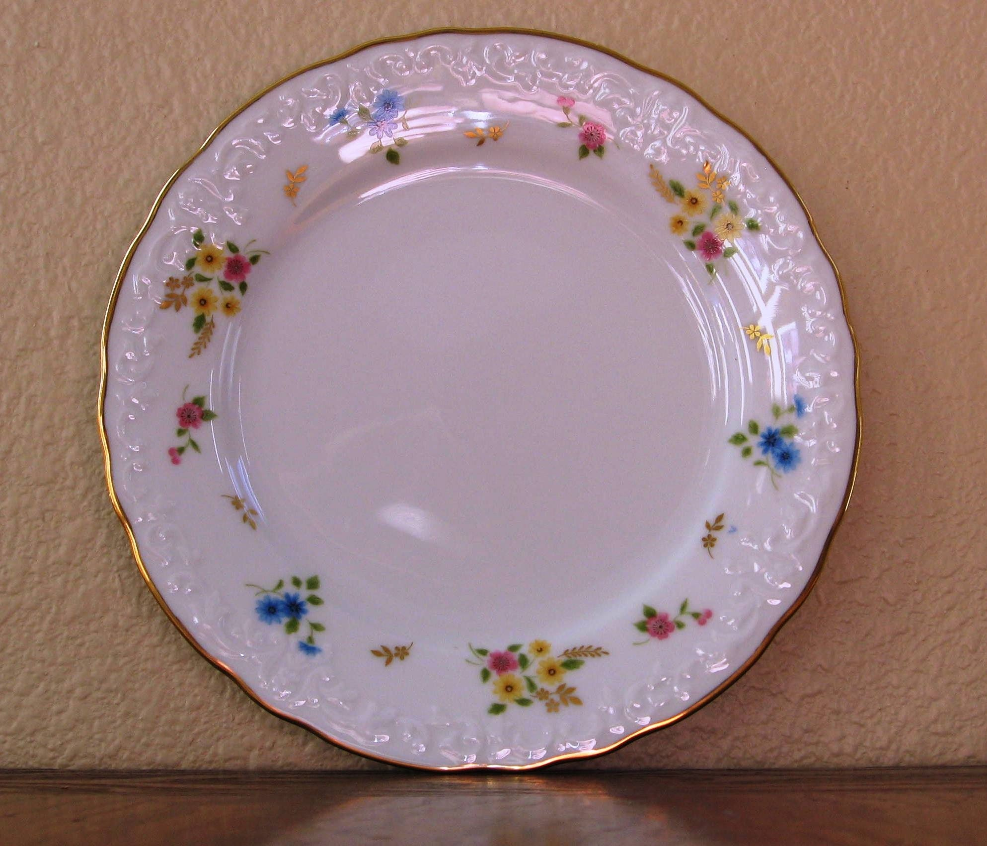 small vintage shabby chic floral china plate reserved for. Black Bedroom Furniture Sets. Home Design Ideas