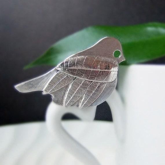 Silver Bird Brooch, bird jewellery, silver bird pin