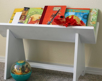 Kids Book Storage Shelf Woodworking Plans