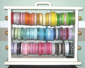 Painted Large Ribbon Storage Rack  Scrapbookers and Crafters organize all your ribbon.