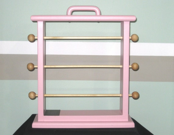 Pink  Original Ribbon Storage Rack  Scrapbookers and Crafters organize all of your ribbon.