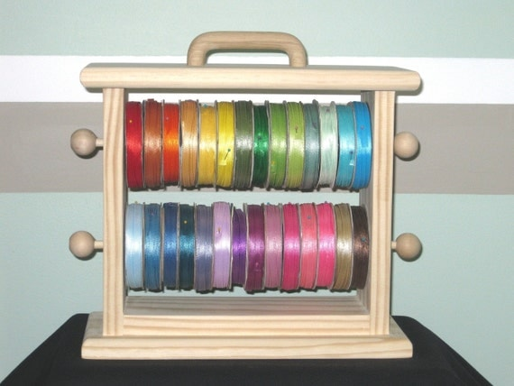 Mini ribbon storage rack scrapbookers crafters organize all your ribbon .