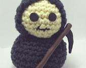 Crocheted Amigurumi Grim Reaper Doll