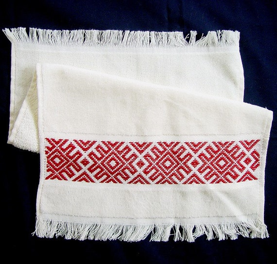 Harmony of Male and Female Energies Towel Talisman,  velour towel 12in x19.5in, handmade embroidery