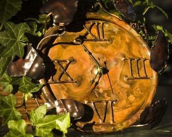 Copper Vine Clock