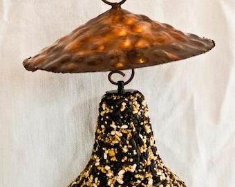 Copper Hanging  Bell Feeder