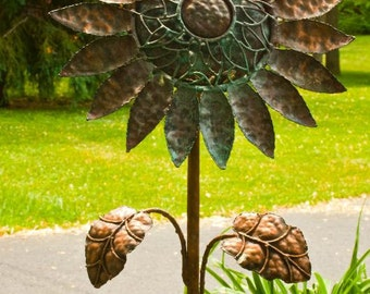 Copper Sun Flower Feeder