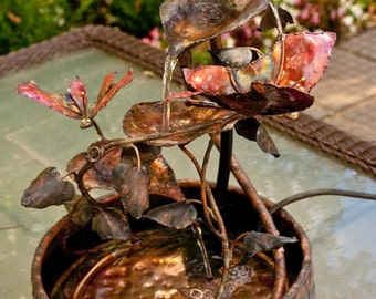 Copper Butterfly Fountain