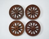 Vintage Rusty Metal Pulley Wheels with Heart Cutouts