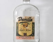 1930's Depression Era Apple Wine Bottle - Glass Wine Bottle De Boer & Miller New York