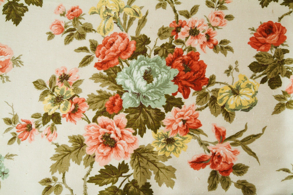 1950 39 S Waverly Bonded Fabric Boucher Flowers