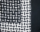RESERVED for SANDFORD. Graphic black and white silk scarf by P.A.S.