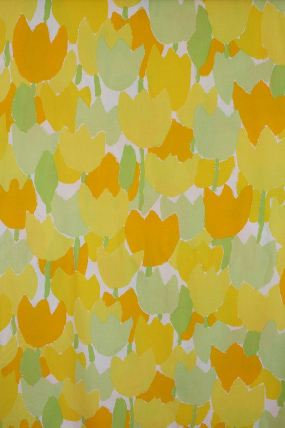 Very retro floral bedsheet by Vera