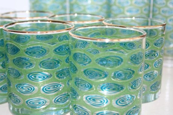 Set of glasses for poolside cocktails