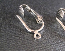Clip On Earring Adaptors in Silver Tone, 4 Prs Change Your Earrings to Clip Ons with Pierced Look