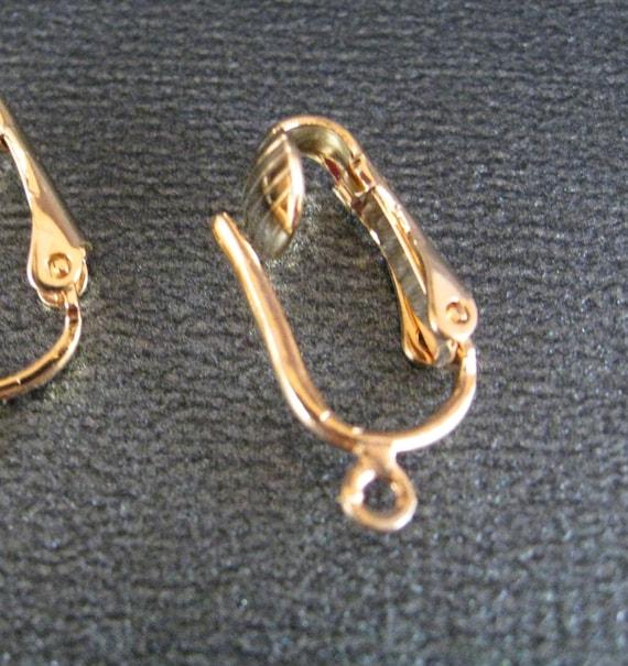clip on earring findings in gold plate convert your earrings