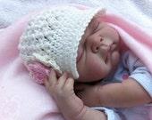 Newsboy Baby Hat Crochet Pattern - Crochet Pattern in Newborn, Baby and Toddler Sizes No.206 Digital Pattern