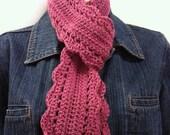 Crochet Skinny Scarf Pattern - Sam's Scarf Crochet Pattern No.508 TWO Sizes uses DK (AUS 8ply) weight yarn Digital Download