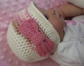 Baby Crochet Hat Pattern - Autumn Cloche with a Bow - Crochet Pattern No.105 FOUR sizes suits BEGINNERS