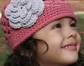 Crochet Hat Patterns - Flower Power Cap Pattern No.201 Adult Ladies Womens Baby Child Sizes