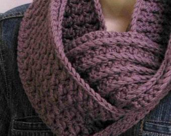 Crochet Scarf Pattern - Textured Cowl Crochet Pattern No.501 Digital Download
