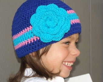 Crochet Hat PATTERN Girls and Boys Quick and Easy Hat Pattern - Unisex Crochet Pattern No.110