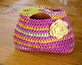 Handbag Crochet Pattern - Easy Peasy Little Kids Bag Crochet Pattern No.504 Digital Download