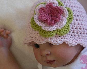Crochet Hat Pattern - Easy Peasy Shell Trim Baby Hat Crochet Pattern No.103 Digital Download