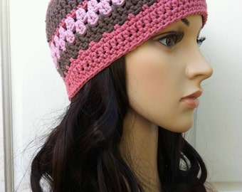 Ladies Crochet Hat Pattern - Womens Beanie Pattern No.208 Digitail Download PDF