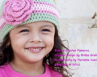 Unisex Crochet Hat Pattern Quick and Easy Beanie Pattern in NINE Sizes No.110 suits BEGINNERS