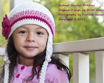 Crochet Hat Pattern - Easy Peasy Earflap Hat Crochet Pattern No.603 Unisex NINE Sizes from Newborn to Adult