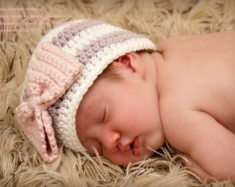Baby Hat Crochet Pattern No.111 - SEVEN sizes for Newborn Baby and Toddler Digital Download