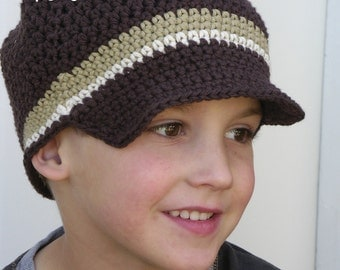 Boys crochet hat pattern No.302 UNISEX TEN sizes from Newborn to Adult