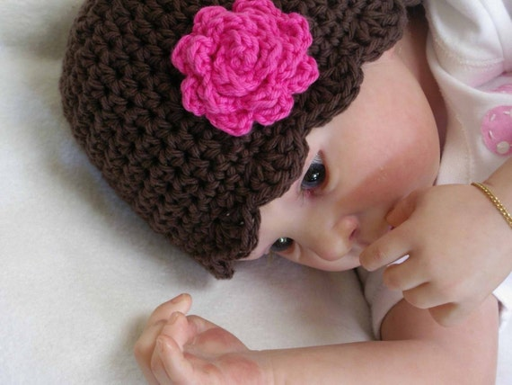 Easy Peasy Crochet Hat Patterns : Easy Peasy Baby Hat and Bootie Set Crochet by bubnutPatterns
