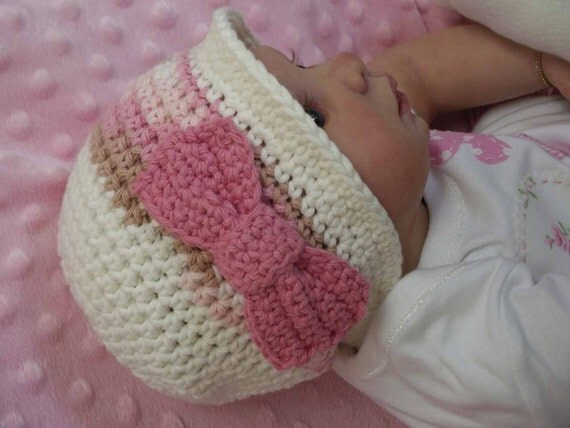 Autumn Hat Cloche with a Bow Crochet Pattern No.105 Emailed2U FOUR sizes suits BEGINNERS