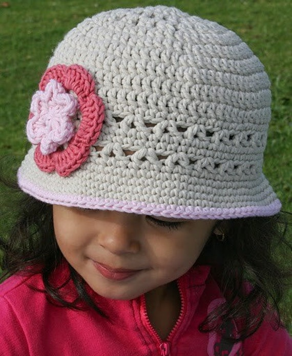 Sun Hat Crochet Pattern No.106 Emailed2U now includes SEVEN Sizes