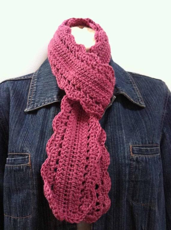 Crochet Scarf Patterns Medium Weight Yarn : Crochet Skinny Scarf Pattern Sams Scarf Crochet Pattern