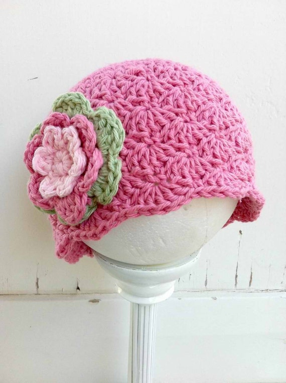 Crochet Shell Beanie Hat Pattern : Shell Stitch Crochet Baby Hat Pattern No.113